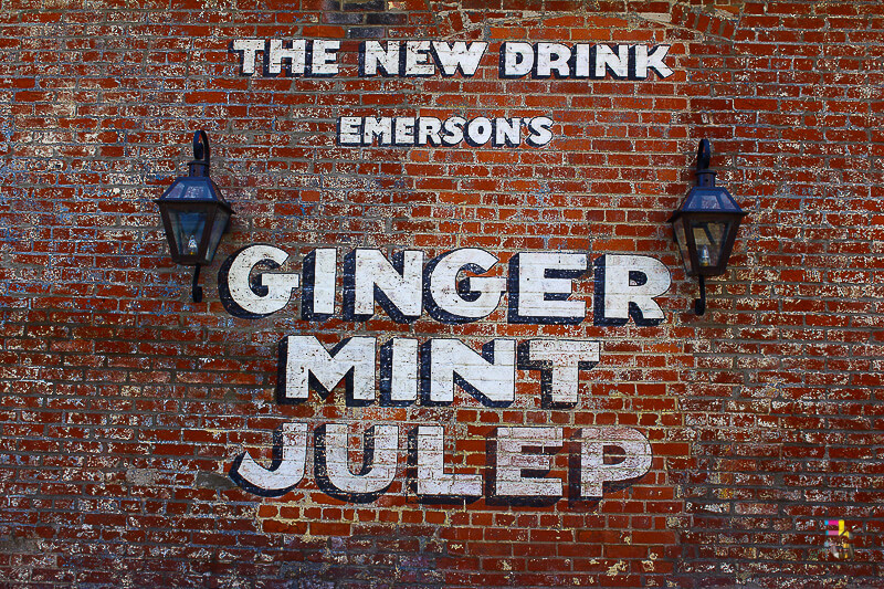 A Journey Of Colour - Ginger Mint Julep Sign Photo