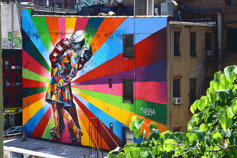 A Journey Of Colour - The Kiss Mural Photo