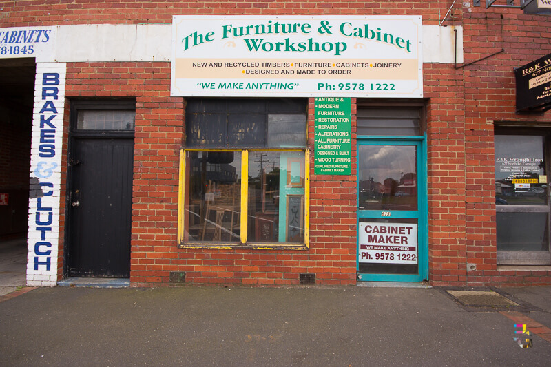 Those Little Shop Fronts - Furniture Workshop Bentleigh Photo