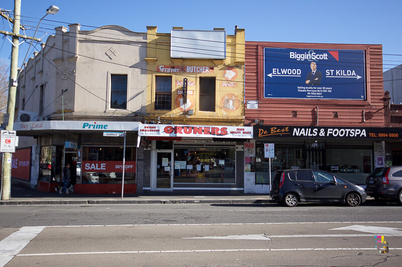 Those Little Shop Fronts - Gruners Butchers St Kilda Photo
